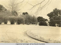 Carport circle in winter