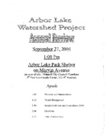 Arbor Lake Watershed Project Annual Review