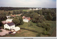 Aerial view Homestead looking north east, Homestead, Iowa, Aug. 23, 1989