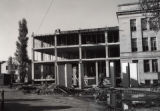 View of 1st library addition construction, 1960
