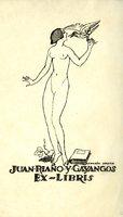 Juan Riano Y Gayangos Bookplate
