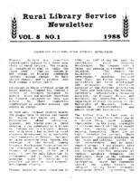 Rural Library Service Newsletter