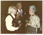 Mary Louise Smith speaking with colleagues, Detroit, Mich., between 1980 and 1984