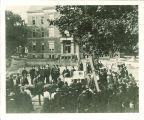 Laying the cornerstone for Macbride Hall, the University of Iowa, 1904