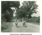 Bicyclists, The University of Iowa, 1940s