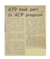 1968 - 479 Took Part in ACP Program