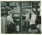 Food service workers in stock room, Iowa Memorial Union, the University of Iowa, 1940s