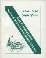 Awards Banquet Program for the 50th Anniversary Celebration of the West Pottawattamie County Soil and Water Conservation District.