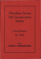 Cherokee County Soil Conservation District Annual Report - 1953