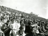 Fans in the stands at Homecoming, 1959
