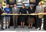Flood ribbon cutting, The University of Iowa, August 25, 2008