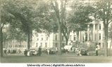 Picnic in front of Schaeffer Hall, The University of Iowa, 1900s?