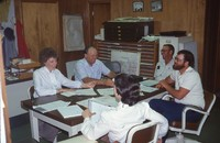 Cherokee County Soil and Water Conservation District Commissioners meeting 1984/85.