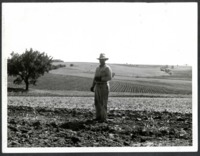 Man Standing on Jim Weston's Farmland