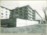Northwest corner of Burge Residence Hall, the University of Iowa, 1960s?