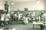 Students at school open house, The University of Iowa, June 1, 1930