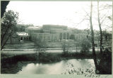 Aerial view of west side of Art Building, the University of Iowa, 1930s?