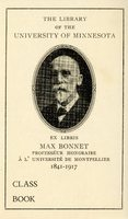 University of Minnesota Library Max Bonnet Collection Bookplate