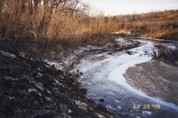 1998 - Reshaped stream bank on Robert Yeager property reinforced with rock rubble