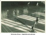 Badminton players, The University of Iowa, 1937