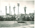 Ground-breaking ceremony for the Main Library, the University of Iowa, May 11, 1949