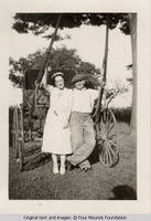 Frank and Marion in front of buggy