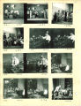 Fifth grade play of Tom Sawyer and glassblowing exhibition, The University of Iowa, 1930s