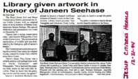 Former Commissioner Janeen Seehase Memory Honored