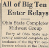 Drake Times-Delphic, 1940, All of Big Ten Enter Relays
