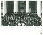 Scottish Highlanders on steps of Old Capitol, The University of Iowa, 1961