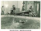 Relay swim race, The University of Iowa, 1937