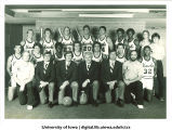 Basketball team with coach, The University of Iowa, 1980