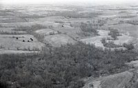Aerial Views of Forest and Farmland
