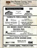 1984 Des Moines County, Iowa Rural Resident & Plat Directory