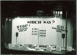 National Pharmacy Week window display, The University of Iowa, 1940s