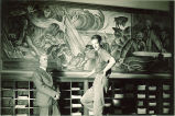 Mural by Richard F. Gates, right, The University of Iowa, 1930s