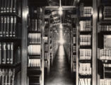 Old Library Storage Building interior, 1940