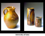 Wood-fired Ceramic Pitcher and Cups