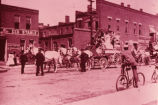 A Stagecoach in Downtown Oskaloosa, Iowa, Late 1800's