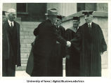 Officials at inauguration of new University President Eugene Gilmore, The University of Iowa, 1934
