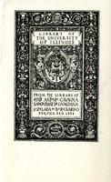 University of Illinois Library of Conte Antonio Cavagna Sangutlandi Di Gualdana Lazelada Di Bereguardo Bookplate
