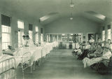 Girls' ward in Children's Hospital, The University of Iowa, January 1921