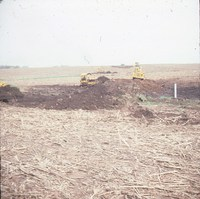 Farmers building terraces in Cherokee County, Iowa.
