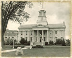Old Capitol from the east, the University of Iowa, August 1971