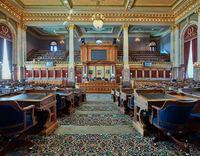 The Iowa House of Representatives Chamber
