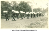 Students marching for Senior Frolic, The University of Iowa, 1910s