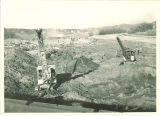 Initial construction of the Iowa Memorial Union, the University of Iowa, circa November 1924