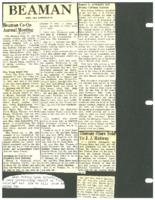 Beaman, Iowa news reported by Mrs. Ira Sanderson