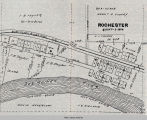 Rochester, IA, 1913 map; Scott Township; Mahaska County; Iowa