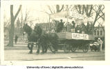 Iowa City for Peace float in parade, The University of Iowa, 1917